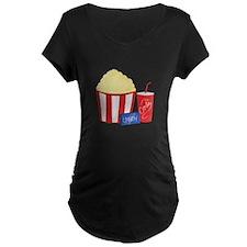Movie Snacks Maternity T-Shirt