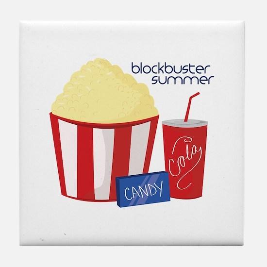 Blockbuster Summer Tile Coaster