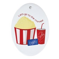 To The Movies Ornament (Oval)