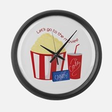 To The Movies Large Wall Clock