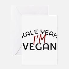 Kale Yeah I'm Vegan Greeting Cards