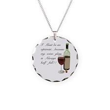 Wine Glass Half Full Optimis Necklace
