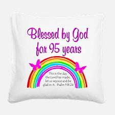 GOD LOVING 95TH Square Canvas Pillow