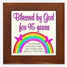 GOD LOVING 95TH Framed Tile