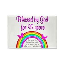 GOD LOVING 95TH Rectangle Magnet
