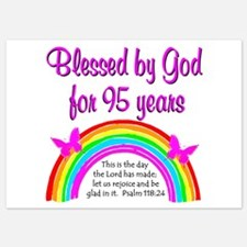 GOD LOVING 95TH Invitations