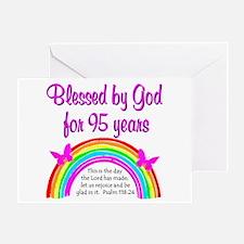 GOD LOVING 95TH Greeting Card