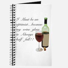 Wine Glass Half Full Optimist Journal