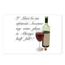Wine Glass Half Full Opti Postcards (Package of 8)