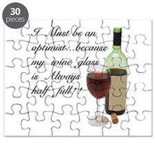 Wine Glass Half Full Optimist Puzzle