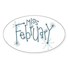 Miss February Decal
