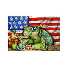 Patriotic Turtle Magnets