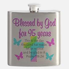 JESUS LOVING 95TH Flask