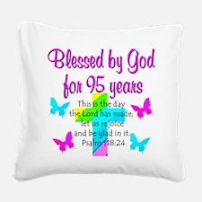 JESUS LOVING 95TH Square Canvas Pillow