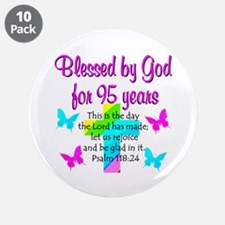 "JESUS LOVING 95TH 3.5"" Button (10 pack)"