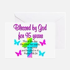JESUS LOVING 95TH Greeting Card