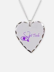 vet tech stethoscope design Necklace