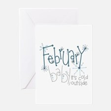 February Baby Greeting Cards