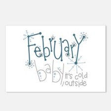 February Baby Postcards (Package of 8)