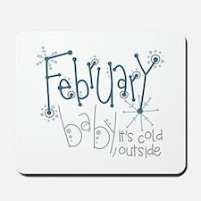 February Baby Mousepad