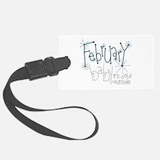February Baby Luggage Tag