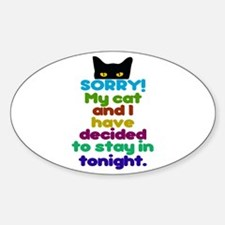 Sorry I Have Plans With My Cat Decal