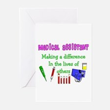 Cute Medical assistant Greeting Cards (Pk of 20)