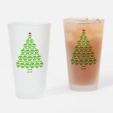Skull Xmas Tree Drinking Glass