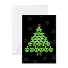 Skull Xmas Tree Greeting Card