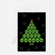 Skull Xmas Tree Greeting Card