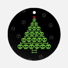 Skull Xmas Tree Ornament (Round)
