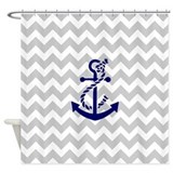 Anchor pink shower curtains Shower Curtains