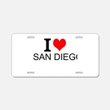 I Love San Diego Aluminum License Plate