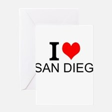 I Love San Diego Greeting Cards