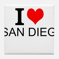 I Love San Diego Tile Coaster