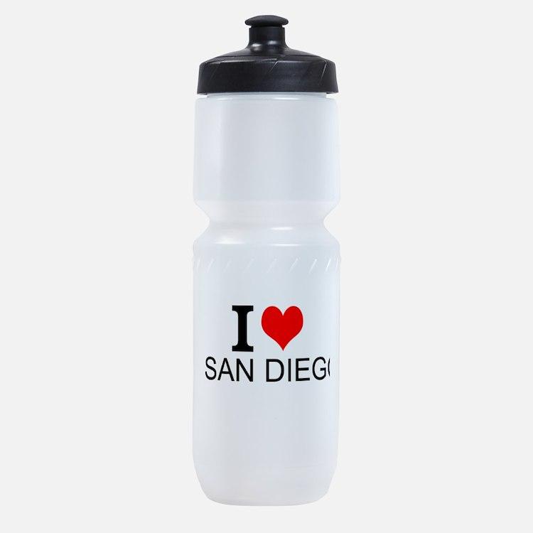 I Love San Diego Sports Bottle