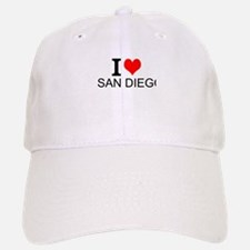 I Love San Diego Baseball Baseball Baseball Cap