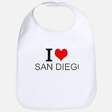 I Love San Diego Bib