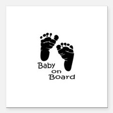 """baby on board Square Car Magnet 3"""" x 3"""""""