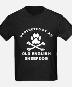 Protected By An Old English Sheepdog T-Shirt