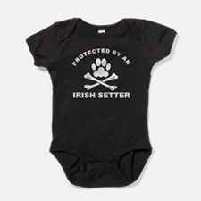 Protected By An Irish Setter Baby Bodysuit