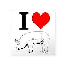 I Love Pork Sticker