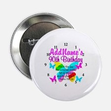 """BLESSED 90TH 2.25"""" Button (10 pack)"""