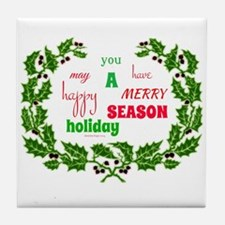 Holiday Message Tile Coaster