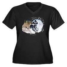 Unique Snowmobiling Women's Plus Size V-Neck Dark T-Shirt