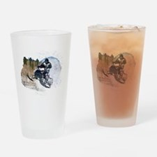 Funny Snowmobiling Drinking Glass