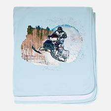 Airborne Snowmobile baby blanket