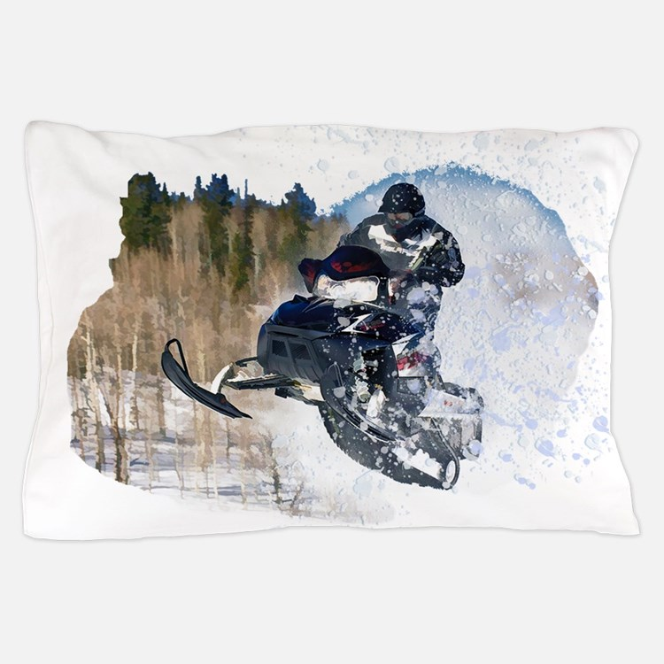 Airborne Snowmobile Pillow Case