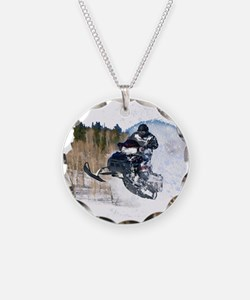 Airborne Snowmobile Necklace