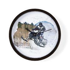 Airborne Snowmobile Wall Clock
